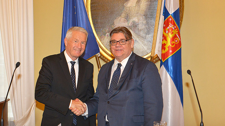 Secretary General Jagland meets Finnish Foreign Minister, President and Parliament speaker