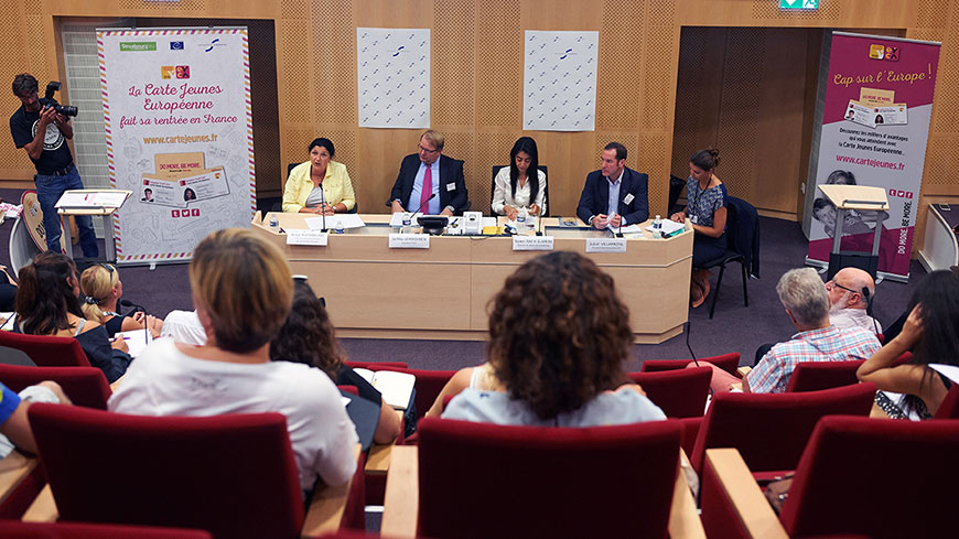 The launch of the European Youth Card in France – empowering Europe's young people