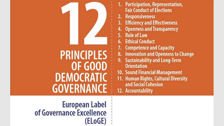 12 Principles of Good Democratic Governance: conference on 28 October