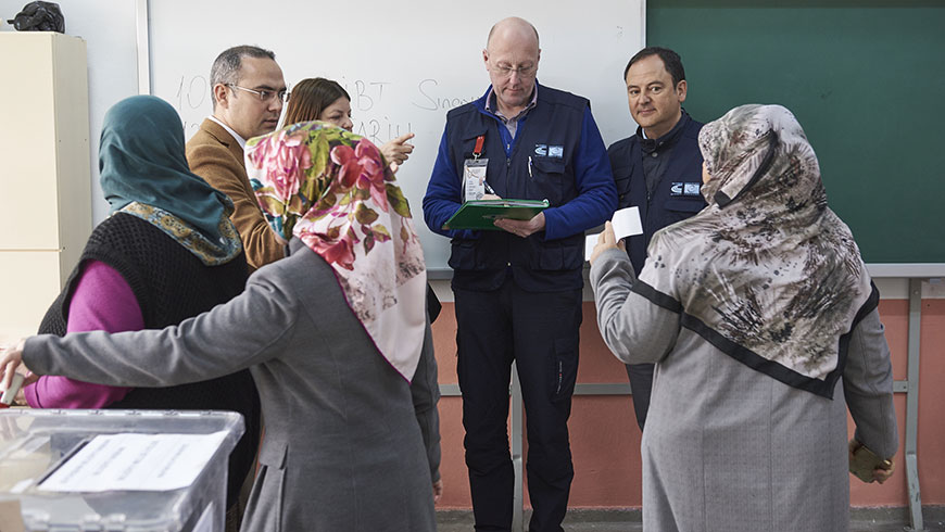 Congress observed local elections in Turkey on 31 March 2019, deploying 22 observers from 20 European countries.