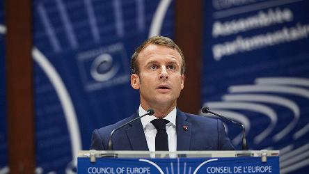 "Emmanuel Macron: ""The Council of Europe is where the divisions in our continent can be healed"""