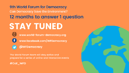 World Forum for Democracy adapts to Covid-19 pandemic conditions