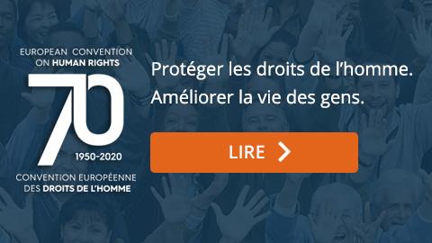 70e anniversaire de la Convention européenne des droits de l'homme
