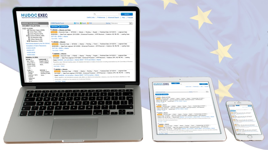 New search engine to follow the execution of judgments of the European Court of Human Rights