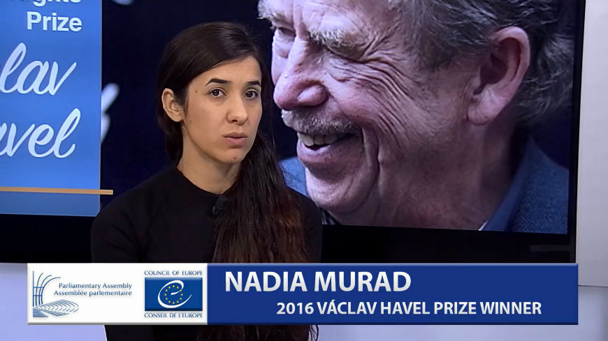 Interview with Nadia Murad, winner of the 2016 Vaclav Havel Human Rights Prize