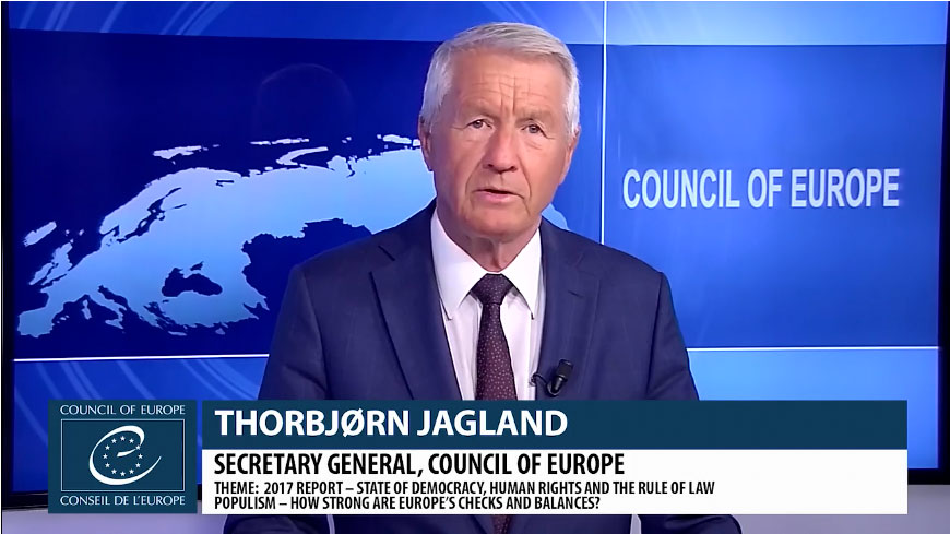 Secretary General Jagland publishes annual report