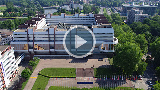 Aerial views of Council of Europe and and views of Strasbourg