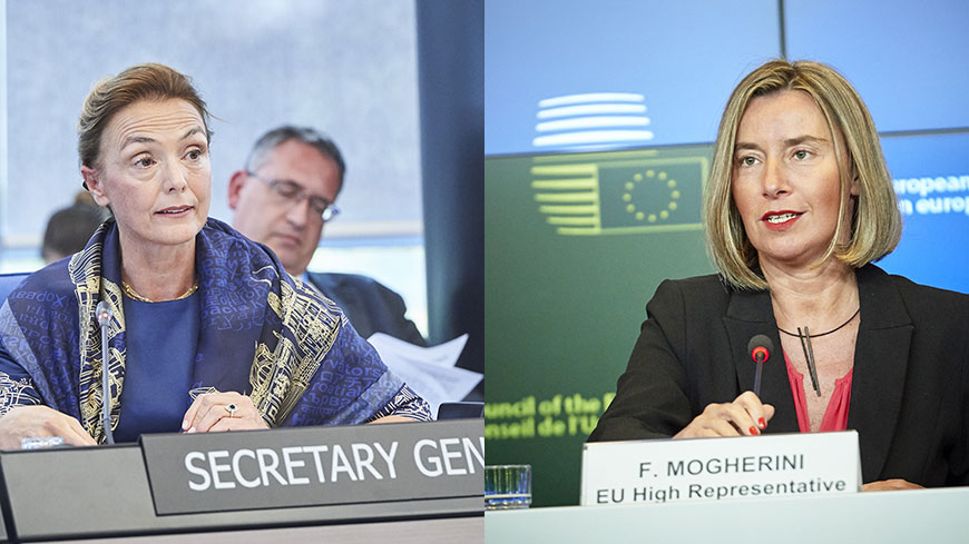 Marija Pejčinović Burić and Federica Mogherini    ©European Union