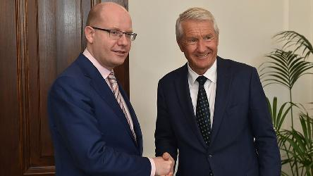 Secretary General Jagland visits the Czech Republic