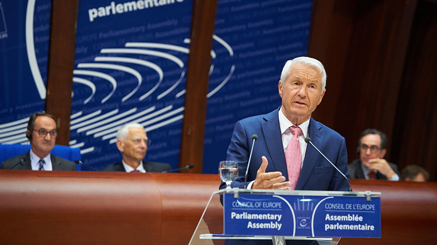 "Secretary General Jagland says PACE must be seen to act with ""One hundred per cent integrity"""