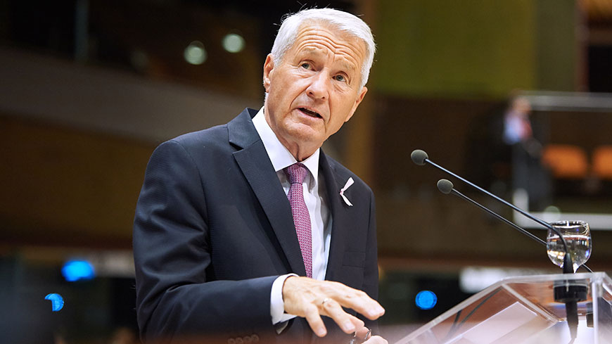 Secretary General Jagland says Catalonia crisis must be solved within the context of the Spanish constitution