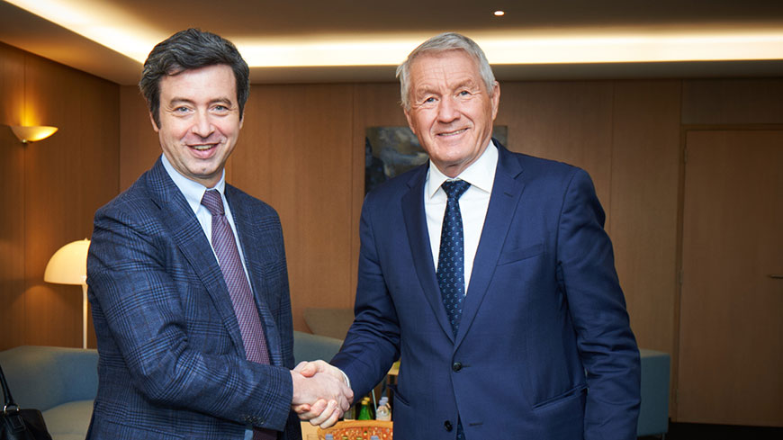 Meeting of Secretary General Thorbjørn Jagland with Italian Justice Minister Orlando
