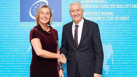 Secretary General Jagland's meeting with Federica Mogherini, EU High Representative  for Foreign Affairs and Security Policy