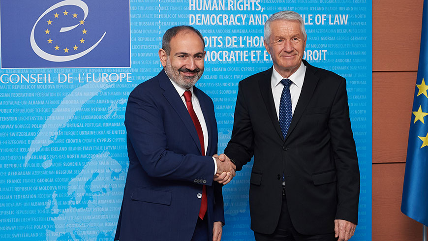 Armenian Prime Minister met with Secretary General. Strasbourg - 11 April 2019
