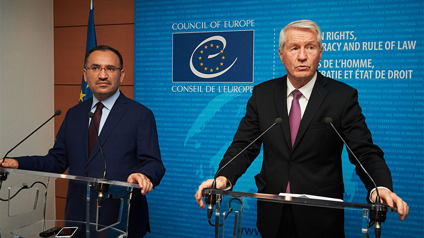 Press statement by Secretary General Thorbjørn Jagland on the occasion of the visit of Mr Bekir Bozdağ, Minister of Justice of Turkey