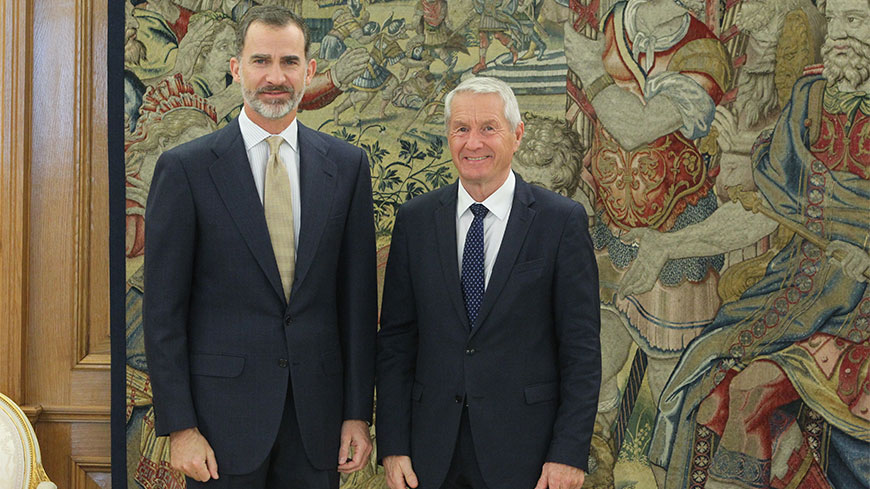 Secretary General in Madrid to commemorate 40th anniversary of Spain's accession
