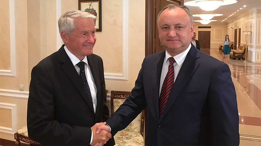Secretary General Jagland on official visit to the Republic of Moldova