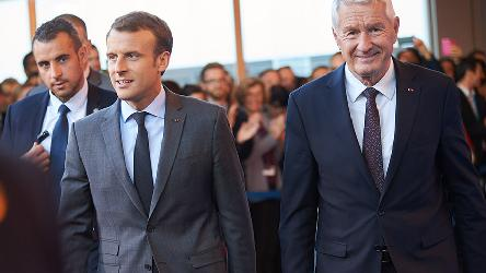 French President Emmanuel Macron visits the Council of Europe