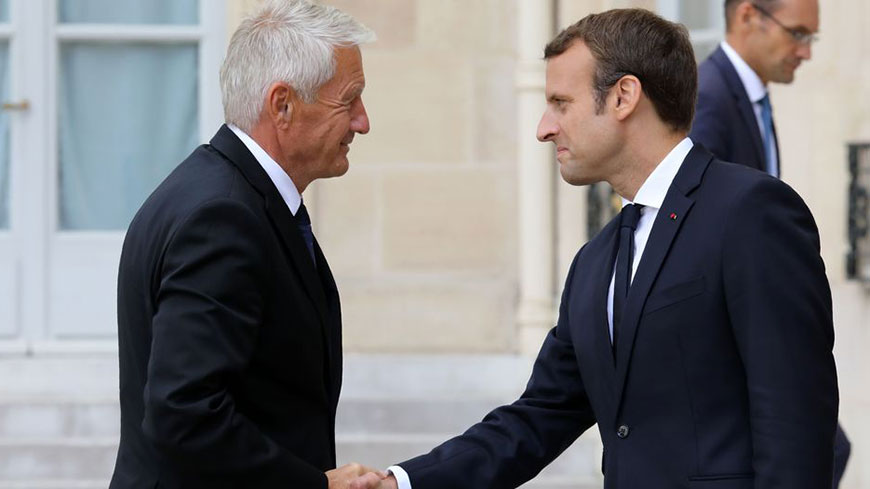 Thorbjørn Jagland e Emmanuel Macron / Photo AFP