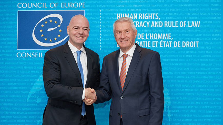 FIFA and the Council of Europe to promote human rights