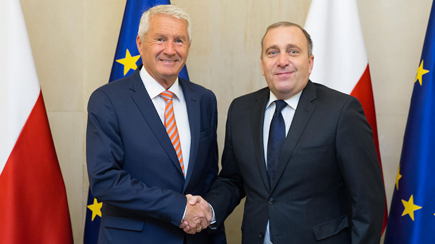 Secretary General Jagland meets Foreign Minister Schetyna of Poland