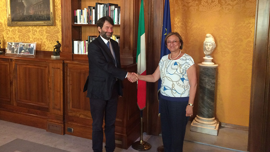 Deputy Secretary General meets Italian Minister of Cultural Heritage