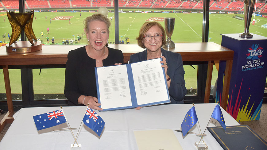 Australia signs the Convention on the Manipulation of Sports Competitions