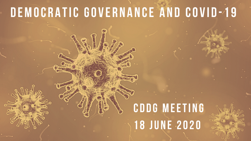 European Committee On Democracy And Governance And Covid 19