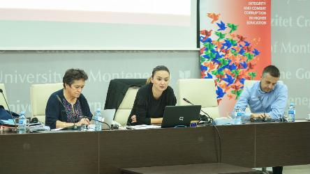 Workshop on ethics, integrity, anti-fraud and plagiarism held at the University of Montenegro