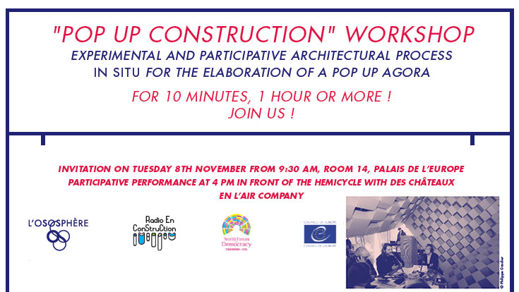 """Pop up construction"" workshop"
