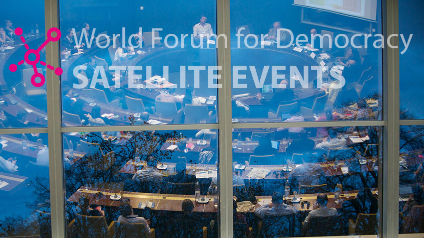 Satellite events: become a part of the World Forum for Democracy experience!