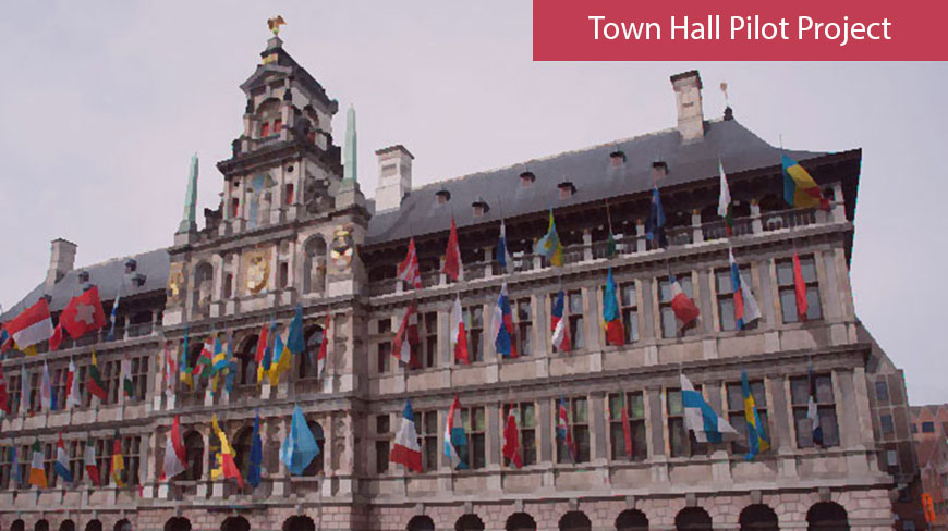 Member cities are hosting the Town Hall Pilot Project