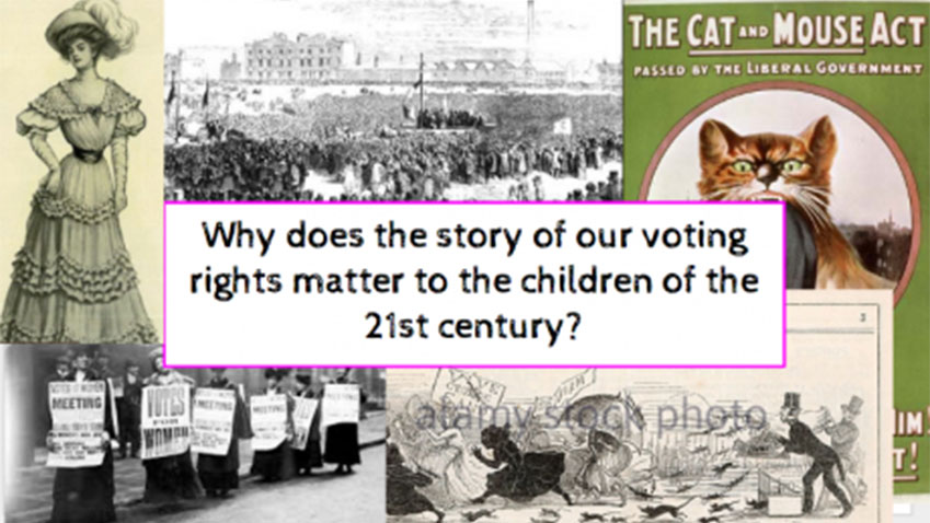 Journey to discover the history of voting rights in an east London School. Rosie Goodhart and Florence Pennant. Some rights reserved.
