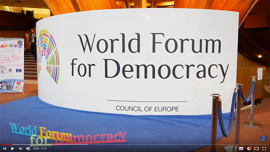 Watch the World Forum for Democracy 2017 Report!