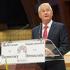 thorbjorn jagland speaking in council of europe hemicycle