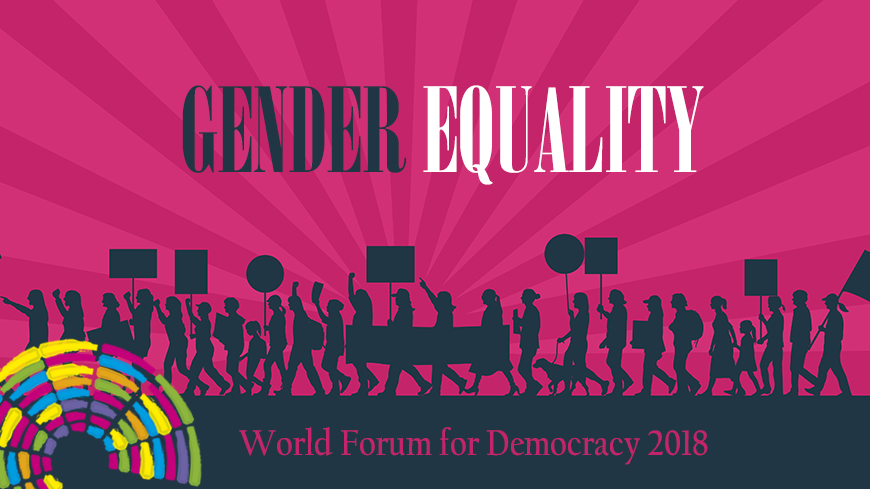 Gender Equality, topic of the World Forum for Democracy 2018