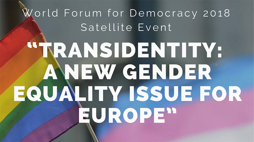 "Satellite event: ""Transidentity: a new gender equality issue for Europe"""
