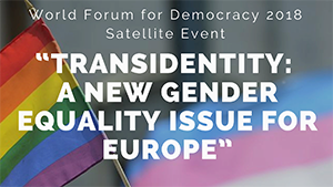 Transidentity: a new gender equality issue for Europe