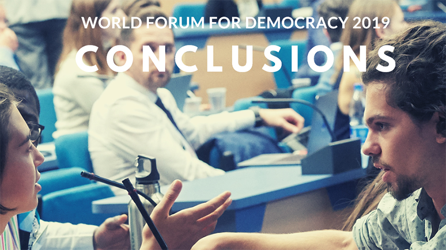 Conclusions of the World Forum for Democracy 2019