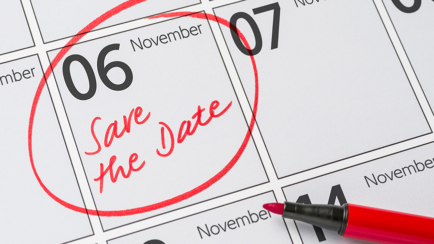 6-8 November 2019: Save the dates