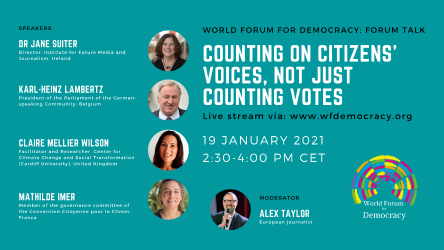 January's Forum Talk: Counting on citizens' voices, not just counting votes