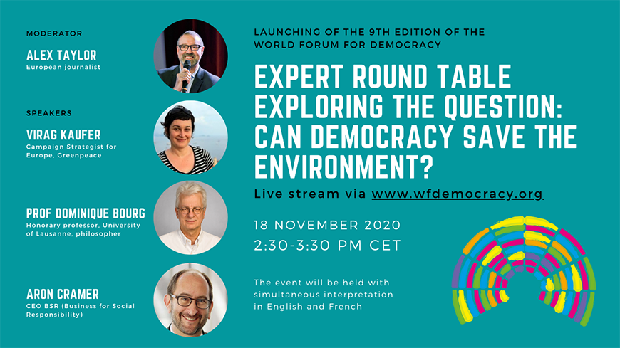 Expert Round Table Exploring the question: Can democracy save the environment?