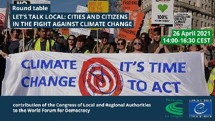 Round table: Let's talk local: cities and citizens in the fight against climate change