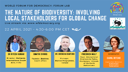 Forum Lab - The Nature of Biodiversity: Involving Local Stakeholders for Global Change