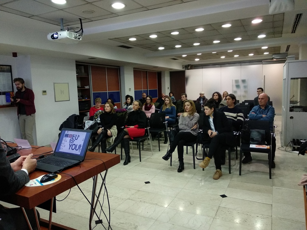 A public lecture on trafficking in human beings for NGO representatives and law students delivered in Skopje