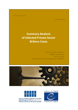 Summary Analysis of Selected Private Sector Bribery Cases
