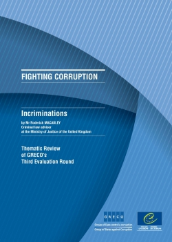Incriminations (thematic review of GRECO's Third Evaluation Round)