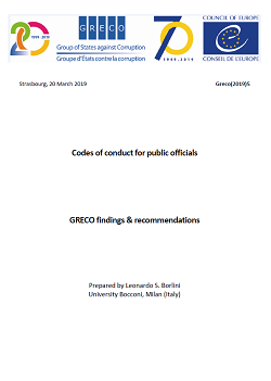 Codes of conduct for public officials, GRECO findings & recommendations
