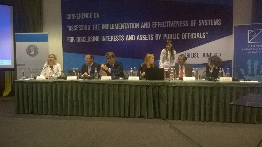 "Conference on ""Assessing the Implementation and Effectiveness of Systems for Disclosing Interests and Assets by Public Officials"" (Tbilisi, 6-7 June 2017)"