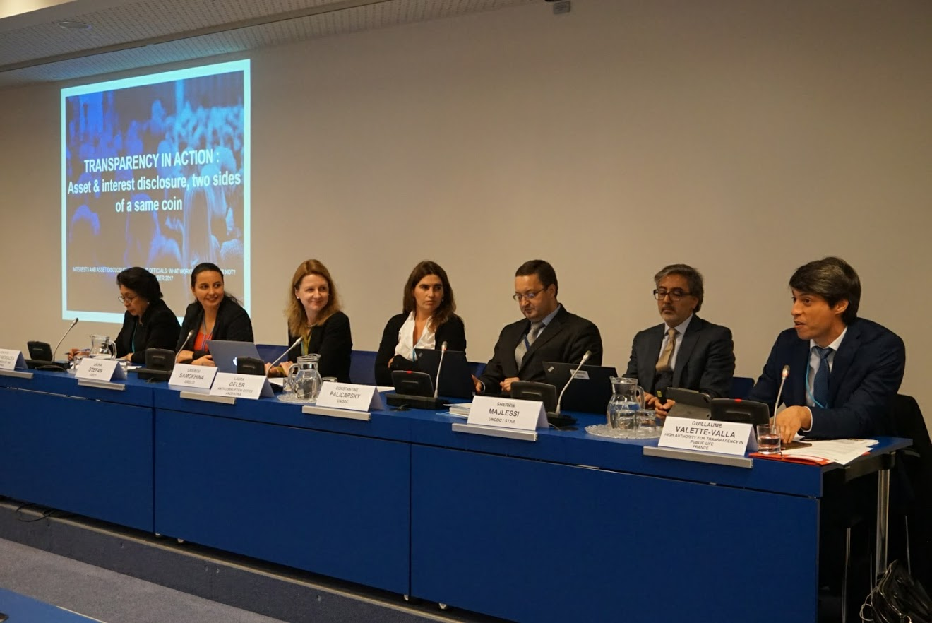 Side event co-organised by GRECO, OECD and UNODC (Vienna, 8 November 2017)